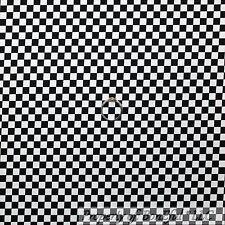 BonEful Fabric FQ Cotton Quilt Black White B&W Stripe Plaid Block Square Car Boy