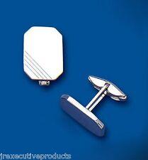 Cufflinks Solid Sterling Silver Rectangular
