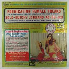 FORNICATING FEMALE FREAKS Bold-Butchy Lesbians AC-DC Sex Audio Stag LP Strange