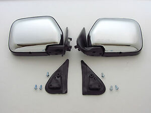 88 - 97 TOYOTA HILUX MIGHTY-X 4RUNNER SURF CHROME DOOR MIRROR MANUAL PAIR