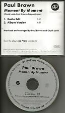 PAUL BROWN Moment By  w/RARE RADIO EDIT PROMO Radio DJ CD single MINT 2004