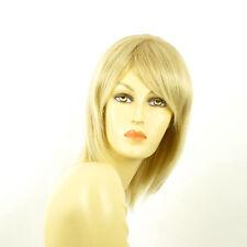 Perruque femme mi-longue blond doré méché blond très clair RITA 24BT613