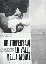 Q39 Clipping-Ritaglio 1966 Jean Pierre Marquant - Valle della morte California