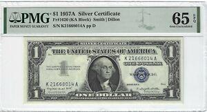 Fr.1620 1957A $1 Silver Certificate, Smith / Dillon, KA Block, PMG 65EPQ