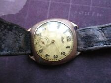 vintage mens tempo watch,,, for rstoration or parts only - cussion style