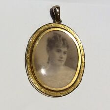 Rare Victorian Large Gold Photo Locket c1870-80