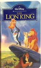 The Lion King VHS 2977 Disney Masterpiece Collection (1995)