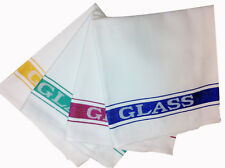 Pack of 10 Cotton Rich Glass Cloth / Tea Towels | Catering Restaurant | Kitchen