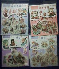 kawaii washi anime manga expression diary journal sticker flakes pack