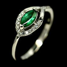 TOP EMERALD RING : Natürlicher Grün Smaragd Ring Gr. 17,7 Sterlingsilber R744