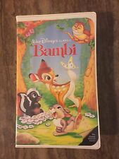 Rare Walt Disney Black Diamond Classic Bambi VHS 942 Tested