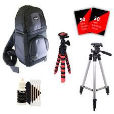 Tall & Flexible Tripod & More for Canon EOS Rebel T6 T5 & All Digital Cameras