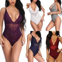 Lace Bodysuit Underwear Lingerie Sleepwear Nightwear Women's Babydoll Jumpsuit