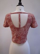 Urban Outfitters Cropped Top New Size Small T Back Paisley Pink Boho Festival