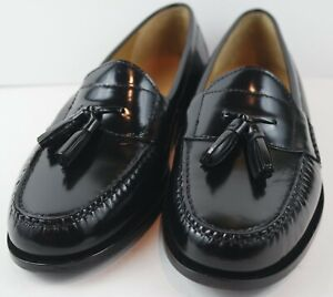 Cole Haan Men's Pinch Tassel Moc Black Dress Loafers MSRP $160 Size 11 E