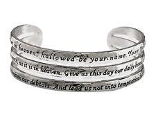4030583  Lord's Prayer Cuff Bracelet Christian Bracelet Scripture Jesus Words