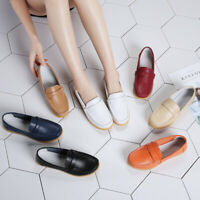 7 Colors Women Real Leather Comfy Flats Pump Loafers Ladies Casual Walking Shoes
