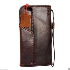 genuine vintage leather Case fit apple iphone 6 6s plus book wallet cover magnet