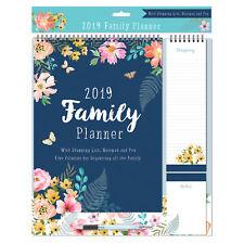 Tallon 2017 Family Organiser Calendar / Shopping List & Pen - 4 Designs Owls