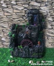 "21"" Feng Shui Tabletop or Garden Water Fountain with Running Wheel"
