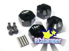 ALUMINUM 14MM x 9MM HEX DRIVE ADAPTER BK 4PC AXIAL 1/10 WRAITH SCX10 AX10 SCX-10