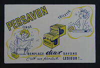 Buvard PERSAVON savon LESIEUR Toilette Seife soap sapone blotter Löscher
