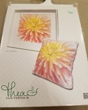 """New Thea Gouverneur Counted Cross Stitch Kit - DAHLIA #441A - 13"""" x 13"""""""