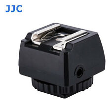 "JJC JSC-9 Hot Shoe Adapter with Cold Shoe Foot and 1/4""-20 Tripod Socket with PC"