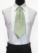 Men's Sage Green Ascot / Cravat Tie Victorian Theater Edwardian Morning Dress
