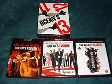 OCEAN'S 11, 12, 13 - (3) HD DVD BOX SET - GEORGE CLOONEY, BRAD PITT, MATT DAMON