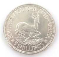 .SOUTH AFRICA. SUPERB aUNC 1948 5 SHILLINGS COIN.