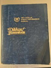 87 Cadillac DeVille Fleetwood Service Information Manual Used 1987