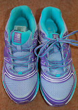 Nouveau sz 6.5 kerrimore D30 Excel lilas & aqua Lace Up Baskets Course Gym Sports