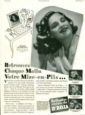 Publicité ancienne mise en plis brillantine Dr Roja 1940 issue de magazine