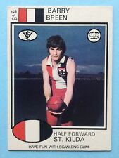 Scanlens 1975 VFL Trading Card 125 Barry Breen St Kilda Saints