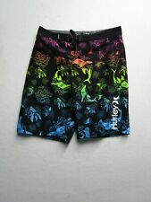 Hurley Boys 18/29 Rainbow Koi Board Shorts Pockets Swim Trunks Drawstrings Nice