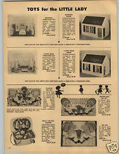 1958 PAPER AD Modern Miss Toy Play Plastic Poly Tea Set Doll House Furniture