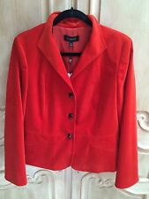 Talbots Velveteen Jacket NWT Orange Size 12