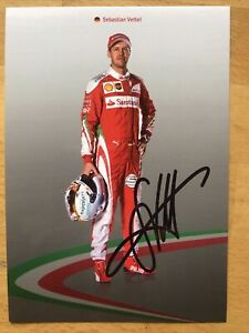 Sebastian Vettel Ak Formula 1 Ferrari Autograph Card 2018 Original Signed