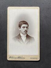 More details for victorian carte de visite cdv: gent dark skin indian? named blundell?