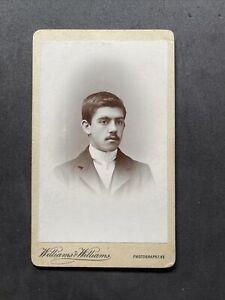 Victorian Carte De Visite CDV: Gent Dark Skin Indian? Named Blundell?