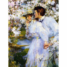 Shannon In The Springtime Painting Large Canvas Art Print