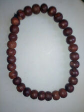 collier perles en bois 15mm approx taille 14cm wooden pearls necklace