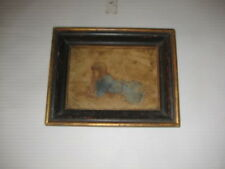 Signed Painting. On Wall Board. Young girl Thinking.  HL Gison?