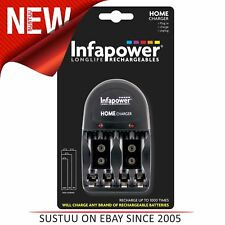Infapower Home AA AAA 9V Caricabatterie spina UK BATTERIE RICARICABILI
