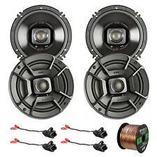 """4x Polk Audio 6.5"""" Car/Boat/ATV Speakers, 4x Adapter for GM Cars, 50' Wire"""