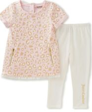 NEW JUICY COUTURE BABY GIRL PINK LEOPARD TUNIC & SIGNATURE LEGGING SET SZ 12M