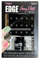 FING'RS EDGE Nail Art HEAVY METAL Gold Leaf Foil+SQUARE+ROUND STUDS+Polish 32871