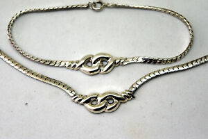 Retired Tiffany & Co Sterling Silver Necklace and Bracelet Set