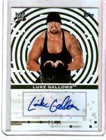 WWE Luke Gallows 2010 Topps Authentic Autograph Card GOLD SN 23 of 25